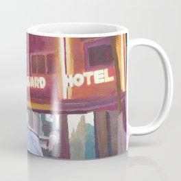 Miami Ocean Drive Convertible Night Poster Coffee Mug