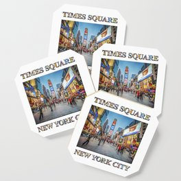 Times Square Sparkle (with typography) Coaster