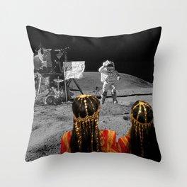 Rgaya and Sabeecha go to the moon Throw Pillow