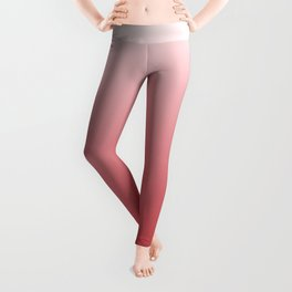 Holly Berry Red Gradient Leggings