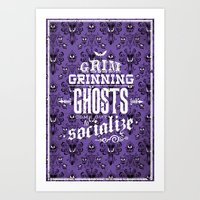 haunted mansion Art Prints featuring Haunted Mansion - Grim Grinning Ghosts by tonysimonetta