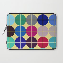 Multicolor Dots on Grid Laptop Sleeve