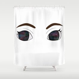 She Had Galaxies In Her Eyes Shower Curtain