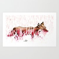 portions for foxes Art Print