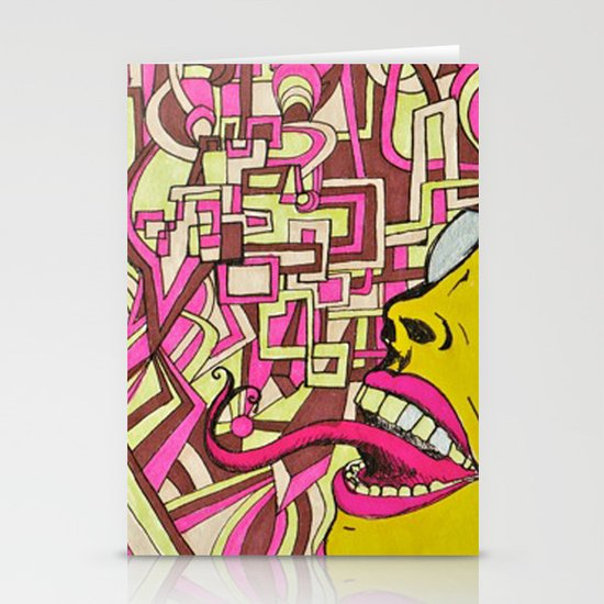 The Most Gigantic Lying Mouth Stationery Cards