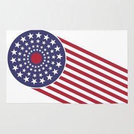 America, the shooting star. Rug