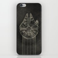 millenium falcon iPhone & iPod Skins featuring Millennium Falcon by LindseyCowley