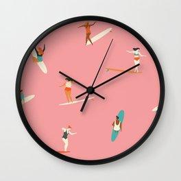 Surf sistas Wall Clock