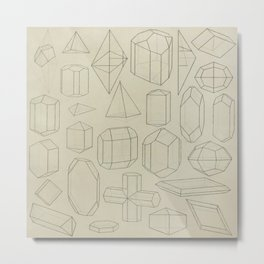 Geometric Crystals Metal Print