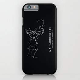Massachusetts State Road Map iPhone Case
