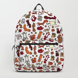 Squirrels in Fall Doodle Backpack
