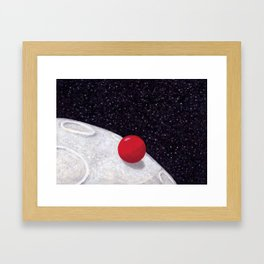 The Adventures of Red Ball - On the moon. Framed Art Print