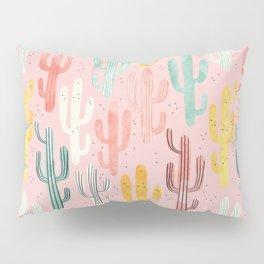 Long Multicolored Cacti Pillow Sham