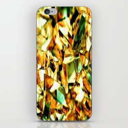 Golden and Green Chrystal Glass Abstract iPhone Skin