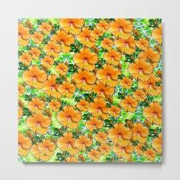 Hibiscus Flower - Gold Metal Print