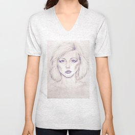 Debbie Harry from Andy Warhol famous picture Unisex V-Neck