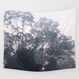 The mysteries of the morning mist Wall Tapestry