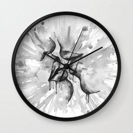 Last Kiss b&w Wall Clock