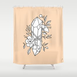 Crystal Wrapped In Florals Shower Curtain