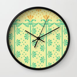Vintage Art Deco floral pattern Wall Clock