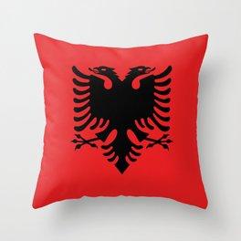 Flag of Albania - Albanian Flag Throw Pillow