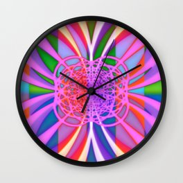 Laundry Day in the Abstract Wall Clock