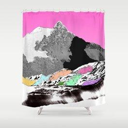 Technicolor landscape Shower Curtain