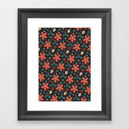 Deck the Halls (Black Background) Framed Art Print