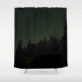 Nightscape at Orcas Island Shower Curtain