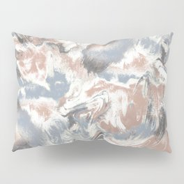 Marble Mist Terra Cotta Blue Pillow Sham