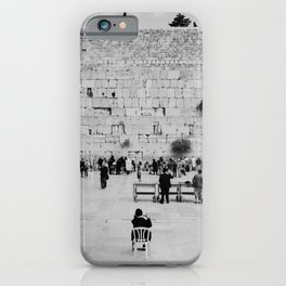 Holy-place, religious jewish men talking | The Western Wall in the Old City, Jerusalem, Israel | Fine art print photography Art Print iPhone Case