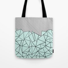 Ab Lines 45 Mint Tote Bag