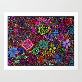Flowers on the Brain Art Print