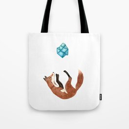 Blue Fox Tote Bag