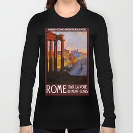 Vintage Rome Italy Travel Long Sleeve T-shirt