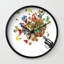 POW! Flowers... Wall Clock