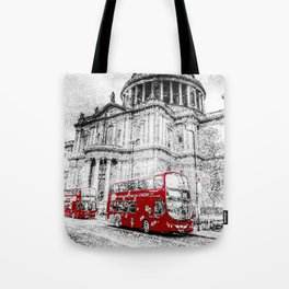 St Paul's Cathedral London Snow Tote Bag