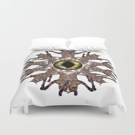 Cats Eye/Ninja Cat Kaleidoscope Duvet Cover