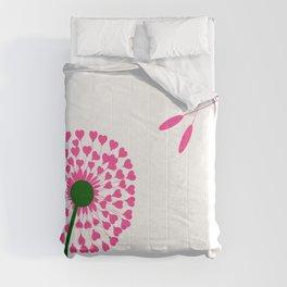 Dandelion Heart Seed Lovers Comforters
