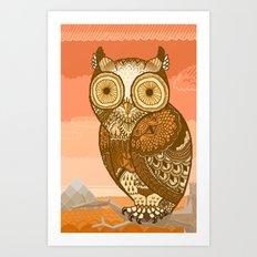 Owlie in Autumn Art Print