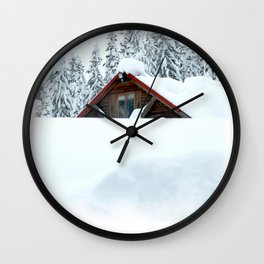 Snow takeover Wall Clock