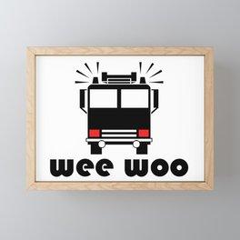 Wee Woo Fire Truck Framed Mini Art Print