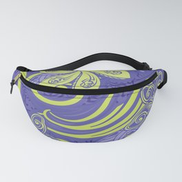Polynesian Kiwi Lime Tropcal Floral Fanny Pack