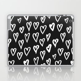 Pattern with hand-drawn Hearts Laptop & iPad Skin