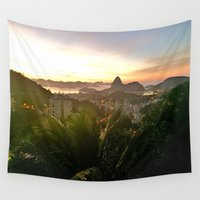rio Wall Tapestries featuring Rio Sunrise by Alessa16