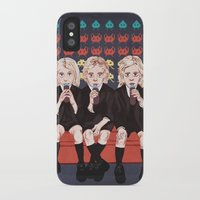 ahs iPhone & iPod Cases featuring AHS Hotel by minniemorrisart