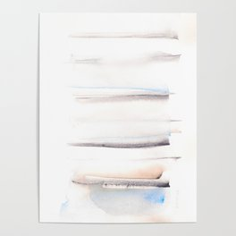 150129 Neutral Cool Abstract 14 Poster