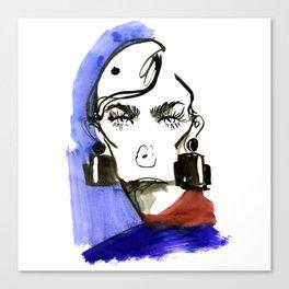 Lady Lashes fashion sketch Canvas Print