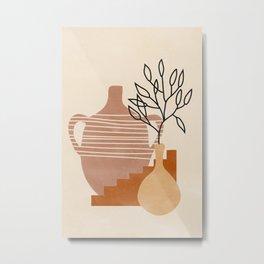 Abstract Art Print Geometric Mobile Modern Wall Art Poster - Framed Wall Art Illustration Print Bedroom Decor Metal Print