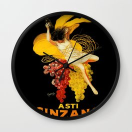 Leonetto Cappiello Cocktail Advertising Poster Wall Clock